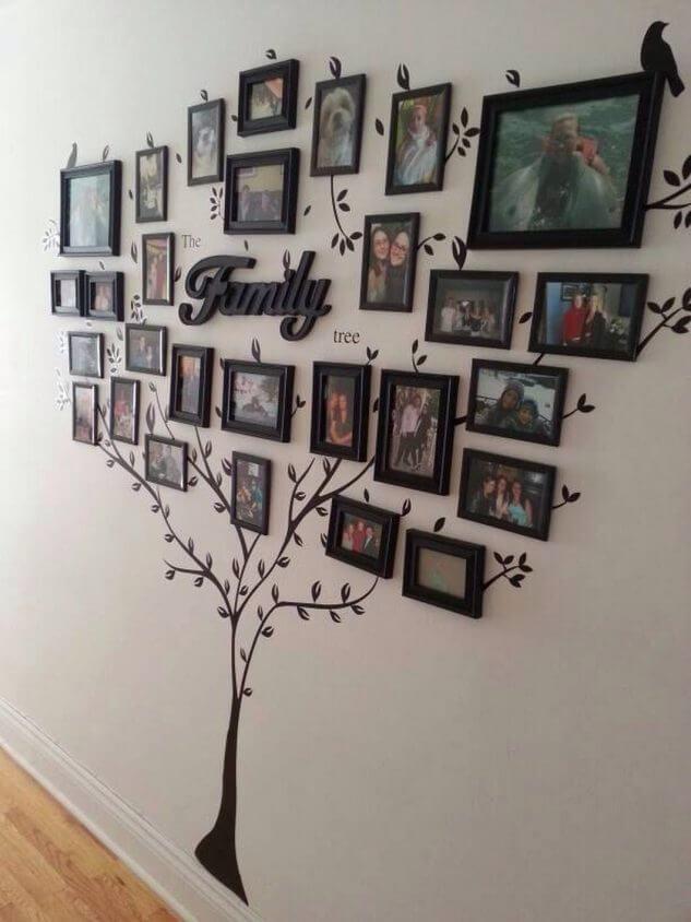 14 stylów układania ramek rodzinnych